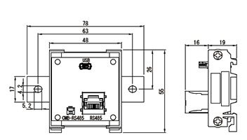 USB-RS485 変換ユニット(型式:ST-USBRS485)